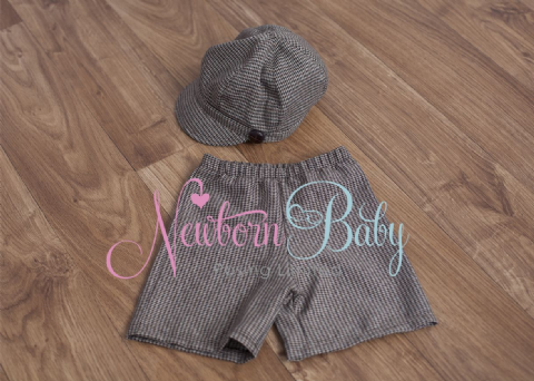 Hat & Short set ~ 8- 15 month size - SALE!